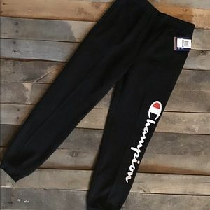 Black Champion Sweatpants NWT